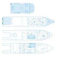 Дайвинг-сафари на Кокосе, план судна Argo