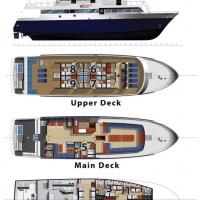 Схема судна для дайвинг-сафари на Галапагосах Galapagos Master