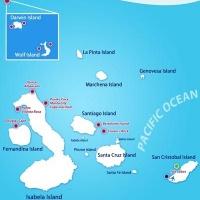 Карта Галапагосских островов