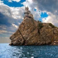 Дайвинг на Черном море. Дворец Ласточкино гнездо
