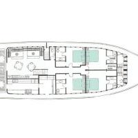 Сафарийная яхта Keana на Мальдивах. План главной палубы