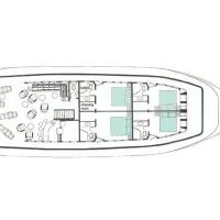 Сафарийная яхта Keana на Мальдивах. План верхней палубы