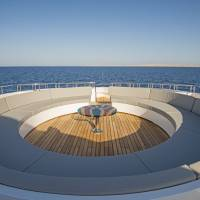 Дайвинг-сафарийная яхта на Красном море Excellence. Открытая палуба