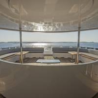 Дайвинг-сафарийная яхта на Красном море Excellence. Затененная открытая палуба