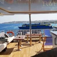 Яхта Neo для дайвинг-сафари в Египте на Красном море. Затененная палуба