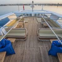 Открытая палуба на яхте Sea Serpent, дайвинг-сафари на Красном море в Египте