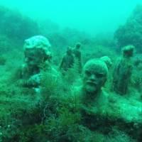 Дайвинг на Черном море. Мыс Тарханкут. Подводный музей советской скульптуры